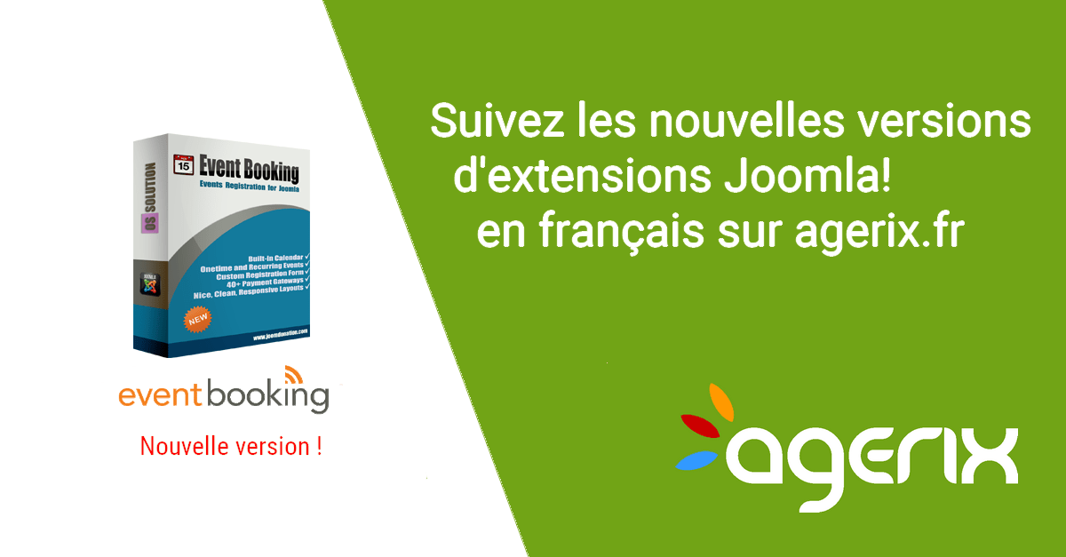 Events Booking, nouvelle version de l'agenda sous Joomla