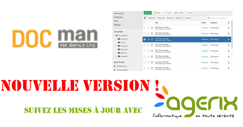 DOCman : gestion de documents sous Joomla 3.3.0