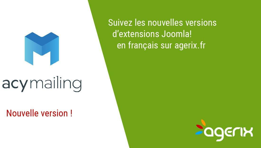 Acymailing 5.9.5, version de correction