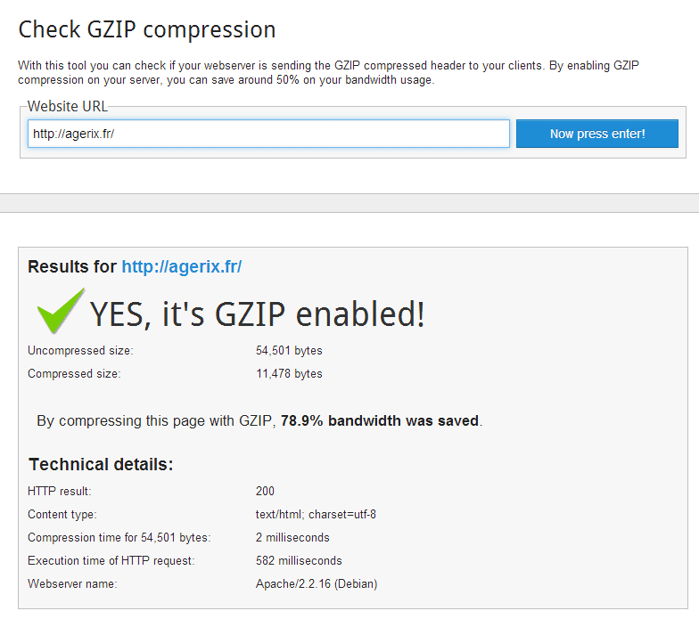 agerix.fr activer la compression gzip 4